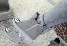 Keilabsatz Sneaker Sportschuhe Hidden Wedges Stiefeletten ^^^^^ Silber!!+_+_+_+_