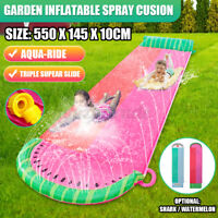 Water Summer Water Toys Outdoor Grass Inflatable Spray Slide Slip Sheets Surfbo