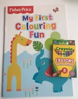 Fisher Price My First Colouring Book & Crayola Crayons Toddler