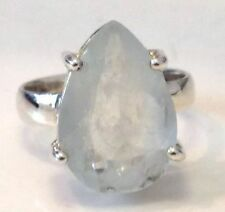 Not Enhanced Aquamarine Solitaire Fine Rings