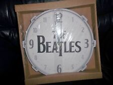 THE BEATLES DRUM SKIN ROUND BATTERY OPERATED CLOCK BRAND NEW AND BOXED AWESOME