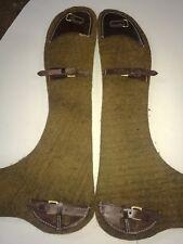 light horse Army saddle felt numnar pads (pair)