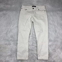 Max Jeans White Skinny Ankle Jeans Size 6 Soft Stretch