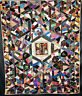 ANTIQUE 1888 CRAZY QUILT HAND DONE HEAVILY EMBROIDERED
