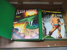 Flash Gordon 1-15 in zwei Grünen Original Pollischansky Sammel Ordner