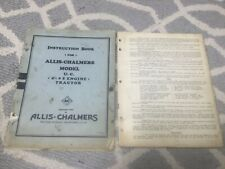 Two Allis Chalmers U UC Antique Tractor Manual Hit Miss Engine 20 35 A WC WD B C