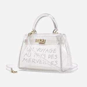 Women's PVC Jelly Bag Un Voyage Clear - Mini Size Zara Perspex