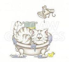 """A. LANGSTON - CATS - ART PRINT POSTER 8"""" X 10""""(AN1185)"""