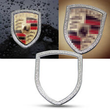 Front Hood Logo Decor Rhinestone Cover For Porsche Cayenne 911 Macan Panamera