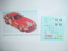 DECAL FERRARI DAYTONA GR.4 NART 24H LE MANS 1971 #58 ARENA 1/43