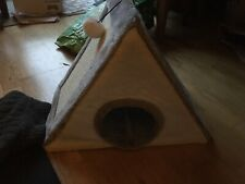 Foldable Pet Bed - Scratching Play Pyramid for Cat Kittens