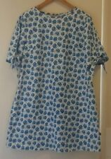 NEW Blue Poppy Flower Tent dress with tie bow sleeve, size 12
