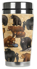 Bears Mugzie Travel Mug Water Proof Insulated Cover Stainless Steel Coffee New