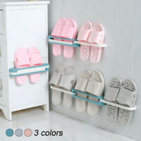 3 in 1 Foldable Slippers Holder Wall Mounted Hanging Shoes Storage Rack