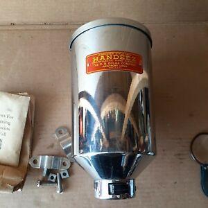 Antique Chrome over Brass Art Deco Period Handeez Soap/Hand Cleaner Dispenser