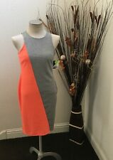 Project Runway Two Tone Gray and Coral Knee Length Shift Dress Size Medium
