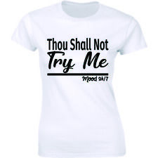 Thou Shall Not Try Me Mood 24:7 Ladies T-Shirt Funny Mood Mother Shirt Tee