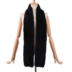 Winter Warm Fur Scarf Women Real Rex Rabbit Fur Neckerchief Fluffy Soft 70.87''