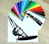 Windsurfing Sticker Vinyl Decal Adhesive Wall Car Van Window Bumper Laptop BLACK