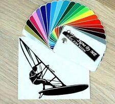 Windsurfing Sticker Vinyl Decal Adhesive Wall Car Van Window Bumper Laptop BLACK