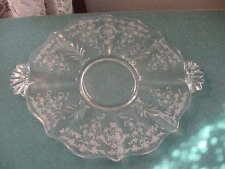 Fostoria 12 1/4 inch Crystal 2 Handled Tid Bit Tray