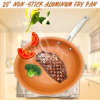 10'' Non Stick Copper Ceramic Induction Bottom Frying Pan Skillet Aluminum Alloy