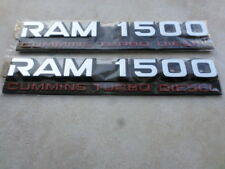 94-02 Dodge Ram 1500 Cummins Turbo Diesel 55295313 Logo Emblem Decal Set of 2