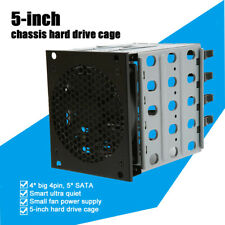 Hard Drive Caddy Cage Chassis Rack 3x 5.25 inch to 5x 3.5inch SATA HDD Tray Case