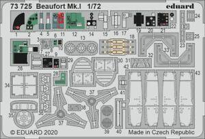 Eduard 1/72 Bristol Beaufort Mk.I Detailing Set # 73725