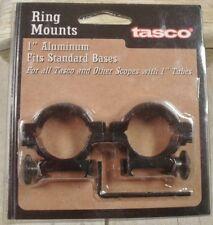"Tasco 1"" Rifle standard height scope rings pair Fits standard bases NEW # 791C"