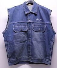 Sean John Sleeveless Blue Denim Jean Button Jacket Men's Size XL Used