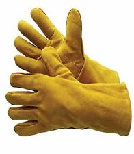 WELDING LEATHER GLOVES WITH REINFORCED THUMB - 12 Pairs - Size Large