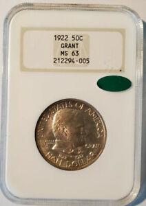 1922 U.S. 50¢ - Ulysses S. Grant Half Dollar - NGC MS63 (CAC!)