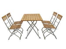 Sitzgruppe Gartengarnitur Biergartenmöbel Biergartenset MÜNCHEN 5-teilig Holz