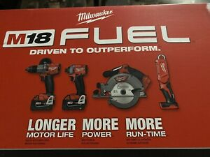 Milwaukee 2998-24 M18 Fuel 4-Tool Combo Kit Shipping With FedEx Ground