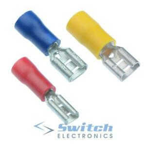 Insulated Female Crimp Connector Spade Electrical Connectors Terminals Terminal
