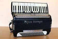 Accordion Paolo Soprani Vintage 120 Bass Black Fisarmonica Akkordeon + Case