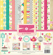 Echo Park - Petticoats & Pinstripes Girl 12x12 Scrapbook Kit Papers + Stickers