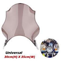 "Screen 7"" Universal Motorcycle Round Windshield For Honda Yamaha Kawasaki Suzuki"