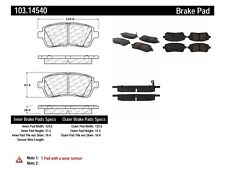 Ceramic Disc Brake Pad Set-Sport Front Centric 103.14540