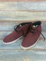 Mens Lacoste Burgundy Canvas Trainers UK Size 9