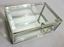 Lovely Glass & Metal Oblong Jewellry Display Box