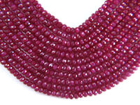 "RUBY 4-5 mm FACETED Rondelle (10 Precious Gemstone Beads) ""A+"" (Select-A-Size)"