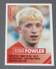 134 ROBBIE FOWLER ROOKIE LIVERPOOL REDS PANINI FOOTBALL PREMIER LEAGUE 1995-1996