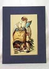 Antique Large German Die Cut Santa ca1900
