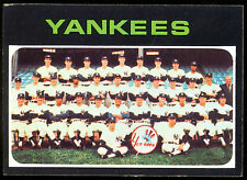 1971 TOPPS BASEBALL #543 N Y NEW YORK YANKEES TEAM CARD NM