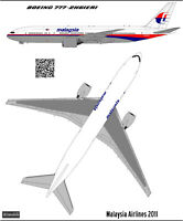 Boeing 777-200 Malaysia Airlines 1144 decal for Eastern Express