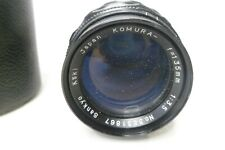 KOMURA SANKYO KOKI 135mm f3.5 TELEPHOTO LENS WITH CASE Japan