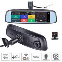 8'' 4G Car DVR camera GPS Android 5.1 Car RearView Mirror Camera smart Dash Cam