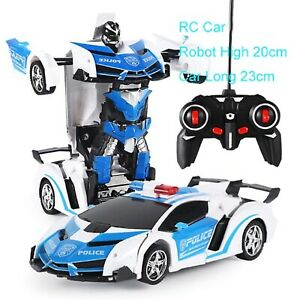 Robot Car Transformer Age 3 4 5 6 7 8 9 10 Unisex Kids Toy with Remote Control